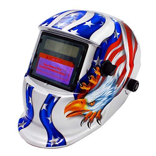 KKmoon Solar Powered Welding Helmet Auto Darkening Hood Adjustable for Mig Tig Arc Welder Mask Electric Welding Mask