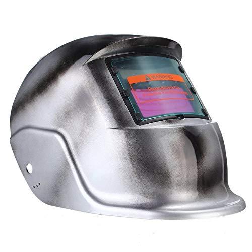 Nrthtri smt Silver Solar Auto Darkening Welding Professional Protect Tool Helmet TIG MIG Welder Lens Mask Safety Glasses