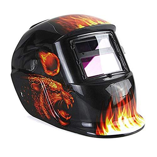 YLOVOW Welding Helmet Solar Powered Welding Mask Auto Darkening Professional Hood with Adjustable Shade Range 49-13 for Welding Machine Mig Tig Arc Weld Grinding Welder Mask Protective Tool