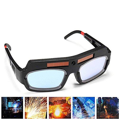 1 Pair Black Solar Auto Darkening Welding Goggle Safety Protective Welding Glasses Mask Helmet Eyes Goggles Mask Anti-Flog Anti-glare Goggles