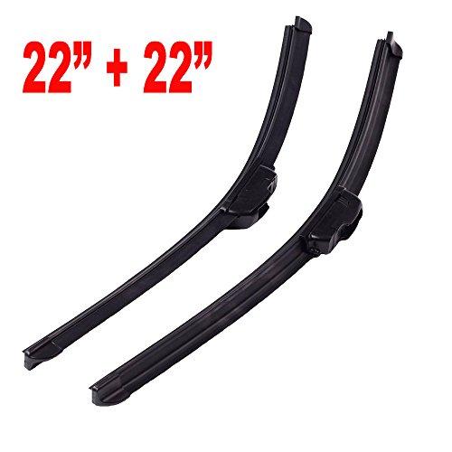 Autojare Bracketless Windshield Wiper Blades J-HOOK U-Hook OEM QUALITY CARS BLADE 22 22