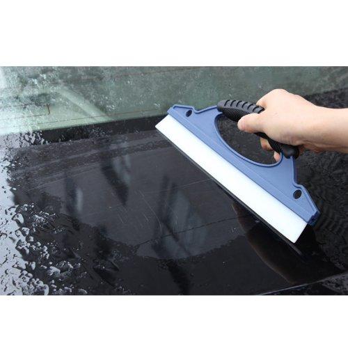Kingzer 30cm Rubber Car Windshield Windscreen Scraper Wiper Blade Plastic Nonslip Handle