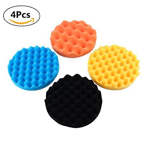 7 Car Buffing Pads Polishing Sponge Pads Kit for Car Sanding Polisher Buffer Wash Cleaning 4pcs Set