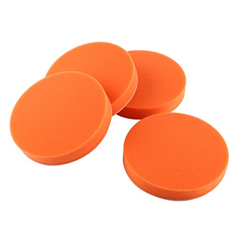 Qiilu 10Pcs 6150mm Sponge Polishing Buffing Waxing Pad Kit Tool for Car Polisher Buffer Orange
