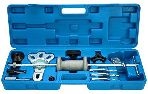 8MILELAKE 16pc Slide Hammer Dent Puller 23 Jaw External Internal Oil Seal Bearing Remover