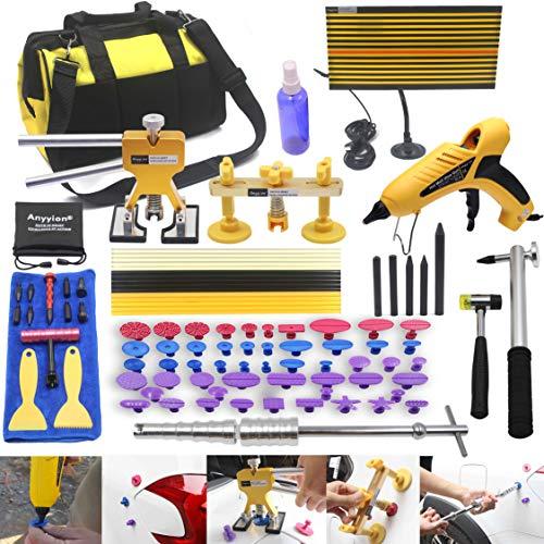 Anyyion 98pcs Paintless Dent Repair KitsCar Body Dent Repair Tools Hail dent Removal Kit for Car Hail Damage Dent Ding Remover(Full Set Starter Set Kits)