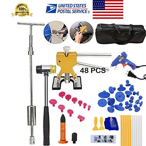 Essential Auto Repair Tool Kit New US Stock Metal Dent Lifter Puller Car Body Paintless Dent DIY Repair Kits As Shown