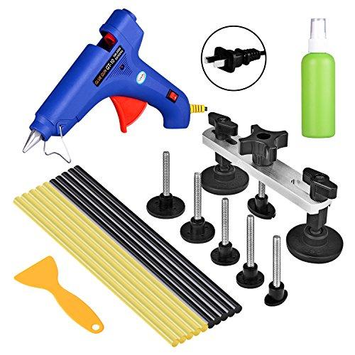 FLY5D 11Pcs Car Body dent Repair Tool Paintless Dent Removal Repair Glue Gun Puller Bridge Glue Sticks