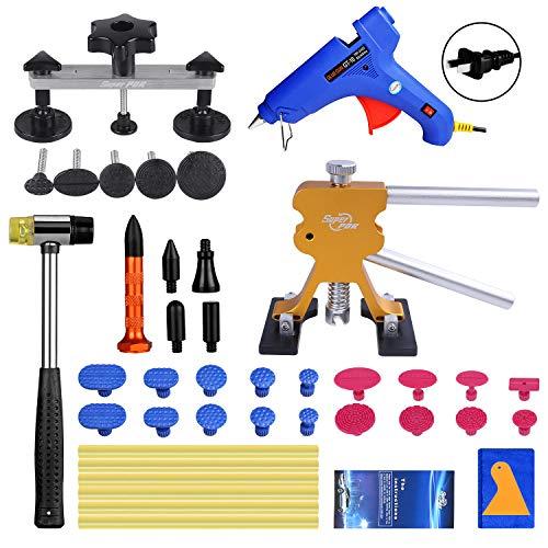 Super PDR Paintless Dent Repair PDR Tool Kit 42Pcs Car Dent Puller Removal Dent Remover Kit