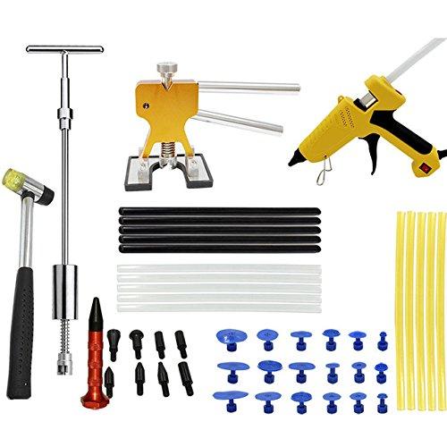 URXTRAL PDR Tool Kit Glue Puller Stick Paintless Dent Repair tools Car Body Dent Repair Hand Tools Glue Gun Tabs Kit