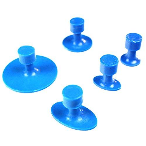 Tpfocus Paintless Dent Repair Glue Puller Sets DIY New Auto Car Body Repair Tool Kits Pulling Sets 5Pcs Blue