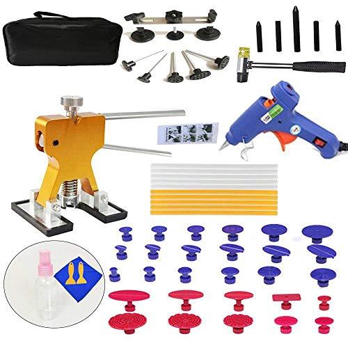 Cacys-Store - 57pcsSet Metal Painless Dent Repair Dent Lifter-Glue Puller Tab 20W Glue Machine Hail Removal Paintless Car Dent Repair