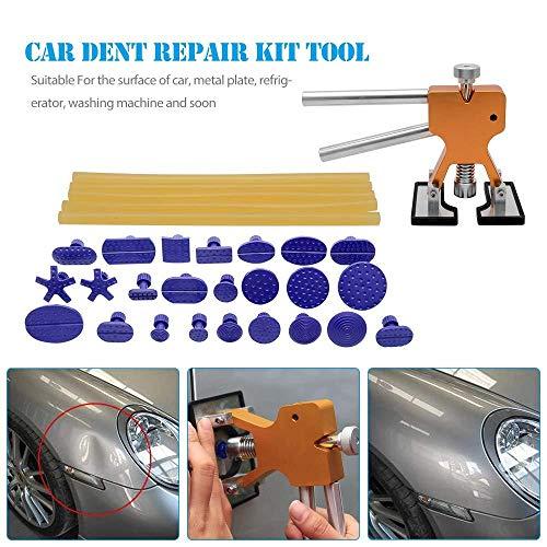 Auto Body Repair Tool Car Paintless Repair Bridge PDR Dent Puller Glue Car Damage Removal kits Tools  Glue Gun  17 pcs Glue Stocks-2Car Body Paintless Dent Repair Tool