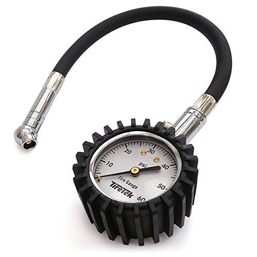 TireTek Flexi-Pro Tire Pressure Gauge Heavy Duty  Best For Car Motorcycle - 60 PSI