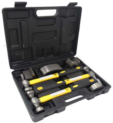 7 Pc Hammer Dolly Auto Body Dent Repair Kit
