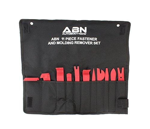 ABN Premium Auto Trim Removal Tool Kit - 11 Piece Pry Bar Set Fastener Remover No Scratch Trim Removal Set