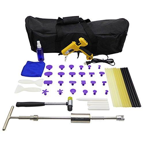 HOTPDR 48 Pcs Paintless Dent Repair Kits Pdr Glue Puller Kit of Car Removal Tools 48 Pcs