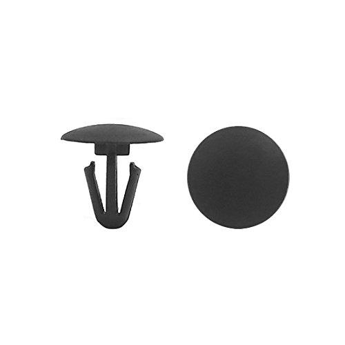 uxcell Black Car Door Trim Panel Hood Plastic Rivet Fasteners Clips 6mm Hole Dia 40pcs