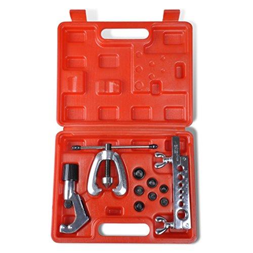 Festnight Flaring Tool Kit Set Steel Flaring Tools Kit Tube Bender Pipe Repair With Case