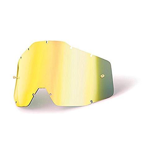 100 RACECRAFT ACCURI STRATA Goggle Replacement Lens - Color Gold MirrorSmoke