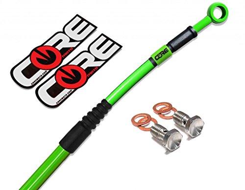 Core Moto CR0028-KG MX Rear Brake Line Kit - Kawasaki Green for KX80 98-00KX85 01-13KX100 98-13