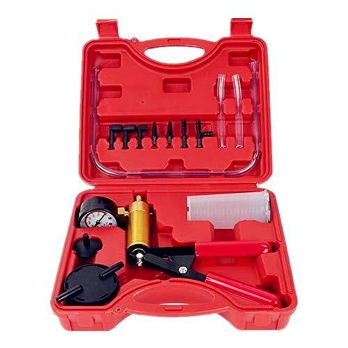 JUST N1 Vacuum Pressure Pump Hand Held Test Tool Set Brake Fluid Bleeder Bleeding Kit Portable Vacuum Tester for Car Motorbike Moped Motor