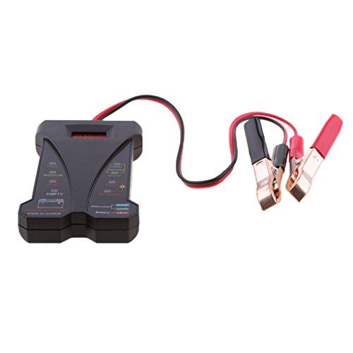 MonkeyJack 12V Motorcycle Car Battery Tester Voltmeter Charging Analyzer Tool - Black