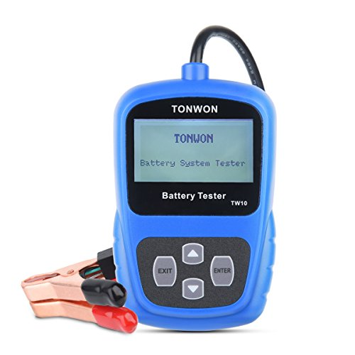 Car Battery Tester TONWON Digital Professional Car Battery Analyzer 12V Car Battery Load Tester Directly Detect Bad Battery Check Battery HealthTW10