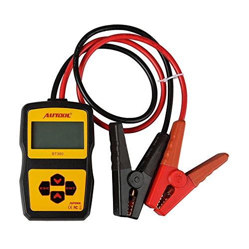AUTOOL BT360 BT-360 12V Auto Battery Tester 2000CCA 220AH Battery Analyzer Multi-Language Battery Charging System Tester