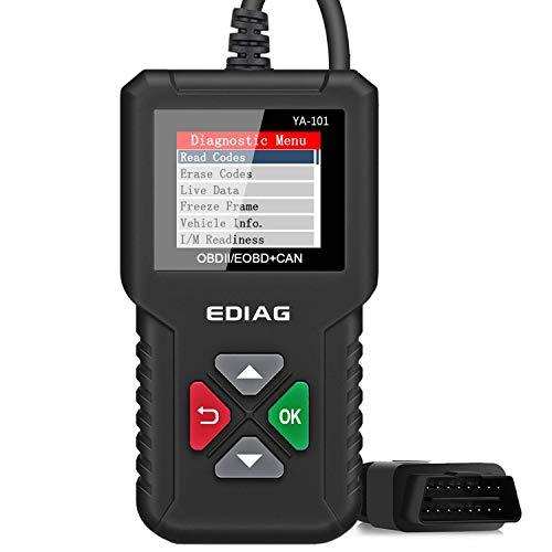EDIAG OBD2 Scanner YA-101 Car Code Reader Checks Engine LightO2 Sensor and EVAP Test Mode 8 On-Board Monitor Test Mode 6Universal Enhanced CAN OBD2 Diagnostic Tool -Lifetime Free Update