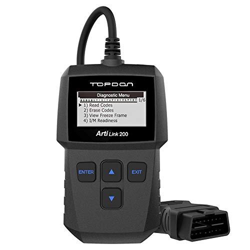 TOPDON OBD2 Scanner Code Reader Diagnostic Scan Tool AL200 for Check Engine Light Simple Smog Check of All OBDII CAN Fault Car After 1996