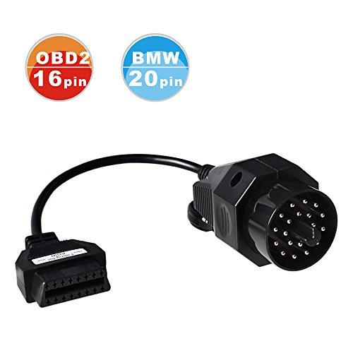 ASSEMBMW 20 Pin OBD2 Round Diagnostic Scanner Adapter Cable for BMW E36 E46 E38 E39 E53 X5 Z3