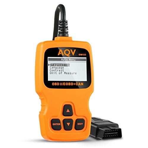AQV OBD2 Auto Code Reader Scanner Universal Car Tester Diagnostic Scan Tool OBD ii Vehicle Check Engine Diagnostic Code Readers for Automobiles Error Codes Eraser