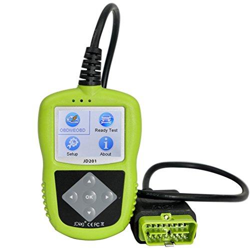 JDiag JD201 Universal OBD II OBD 2 Scanner Car Engine Fault Code Reader CAN Diagnostic Scan Tool OBD2 OBDII Code Scanner Reader with Battery Testing Function