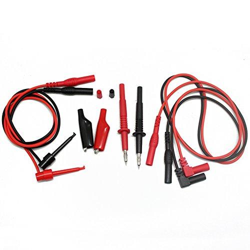 Aidetek alligator clips Shrouded banana plugs modular heavy duty test probe handles leads for FLUKE multimeter tester Electronic Test Lead Kit TLP1070
