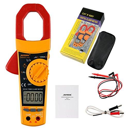 Autool DM500 AutoManual Rang Digital Clamp Meter 6000 Counts Clamp Multimeter Tester