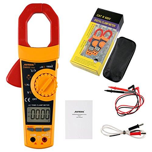 Autool DM600 AutoManual Rang Digital Clamp Meter 6000 Counts Clamp Multimeter Tester