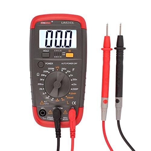 Digital Multimeter Resistance Capacitance Inductance LCR Multi Meter Tester with LCD Backlight Transistor hFE Display 1-1999 UA6243L