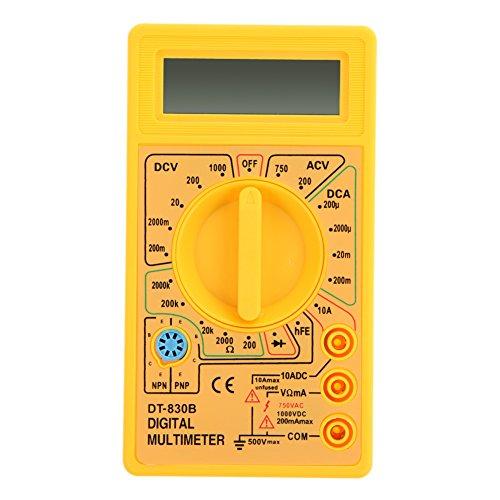 WinnerEco LCD Digital Multimeter Tester Meter Voltmeter Ammeter Ohm DT830B Yellow