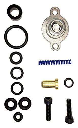 TamerX Fuel Pressure Regulator Upgrade Kit wValve Cap Blue Spring - 1998-2003 Ford Power Stroke 73L
