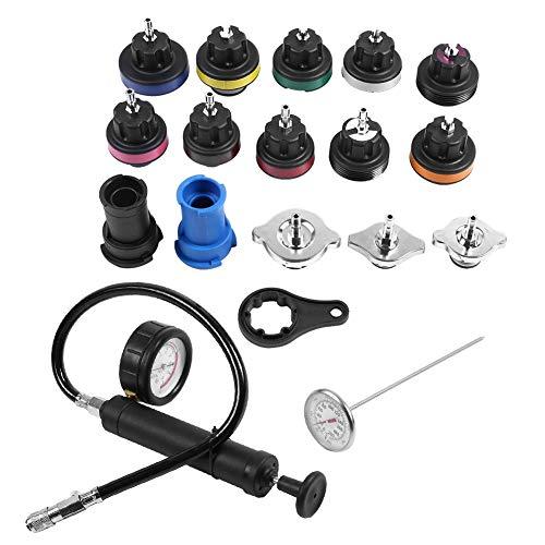 KIMISS 18pcs Universal Water Tank Leak Detector Auto Car Radiator Pressure Tester Vacuum Type Cooling System Kit