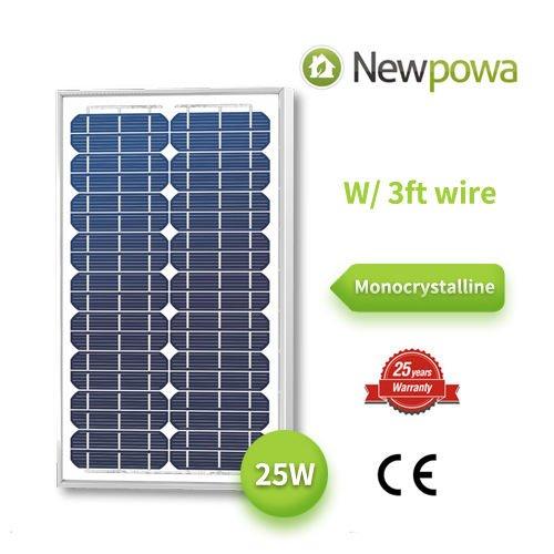 25 Watts Monocrystalline Newpowa High Quality 12v Mono Solar Panel Module 20W  25W  30W Rv Marine Boat Off Grid