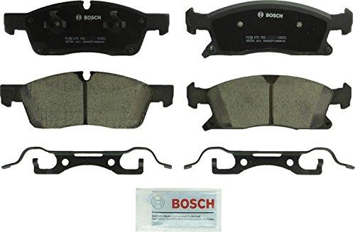 Bosch BC1455 QuietCast Premium Ceramic Disc Brake Pad Set For Dodge Durango Jeep Grand Cherokee Mercedes-Benz GL350 GLE300d GLE350 ML250 ML350 ML400 Front