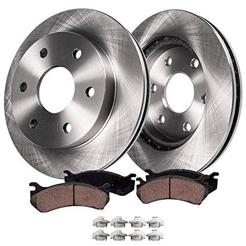 Detroit Axle - 12 305mm 6-Lug Front Brake Kit Rotors Pads wClips Hardware for 1999-2006 SilveradoSierra 1500 4-Wheel Disc Brake Kit - 02-06 EscaladeAvalanche - 01-06 Suburban Yukon XLTahoe