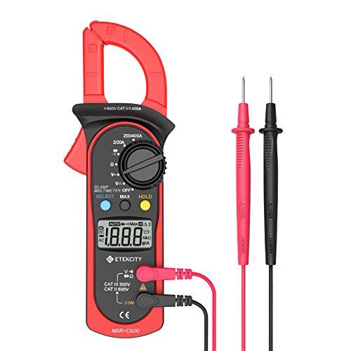Etekcity MSR-C600 Digital Clamp Meter Multimeters  Auto-Ranging Multimeter ACDC voltmeter with Voltage AC Current Amp Volt Ohm Diode and Resistance Test Tester