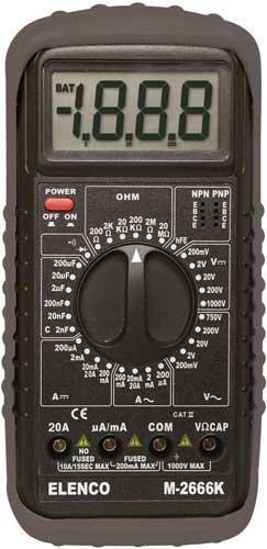 Elenco - Deluxe Full Function Digital Multimeter Kit  M-2666K
