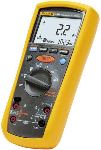 Fluke 1587 Insulation Multimeter LCD Display 2 Gigaohms Insulation Resistance Up to 1000V Insulation Test Voltage