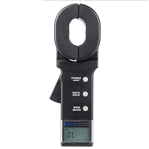 Multimeter Ground Earth Resistance Meter Tester ,Digital Clamp Meter,with Data Storage Function Alarm System,Resistance Range 001~200Ω ETCR2000A Precision Measuring Instrument