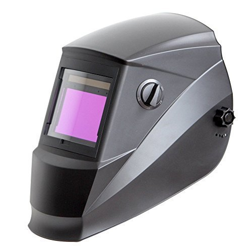 Antra AH6-660-0000   Solar Power Auto Darkening Welding Helmet with AntFi X60-6 Wide Shade Range 45-99-13 with Grinding Feature Extra lens covers Good for Arc Tig Mig Plasma
