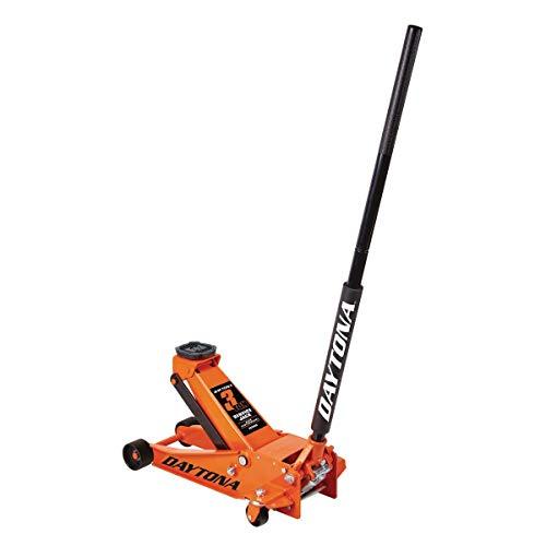 3 ton Steel Heavy Duty Floor Jack with Rapid Pump - Orange